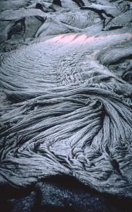 Foto1. Lava pahoehoe o Lave a corde