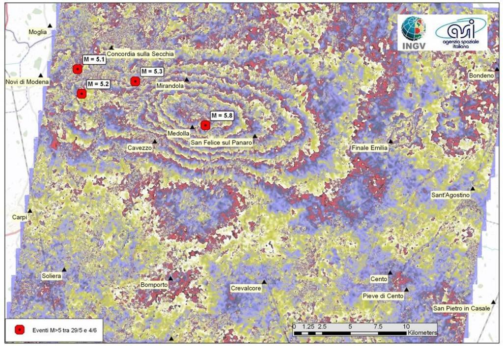 Esempio Immagine interferometrica del sisma del 24 agosto 2016 (da INGV)