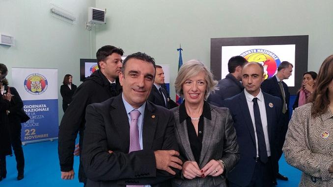 Il Ministro Giannini con Il Consigliere del CNG Angelone