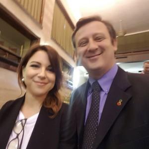Il dr. Domenico Sessa con la meteorologa Serena Giacomin