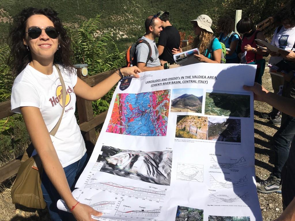 briefing geologi sulla frana .