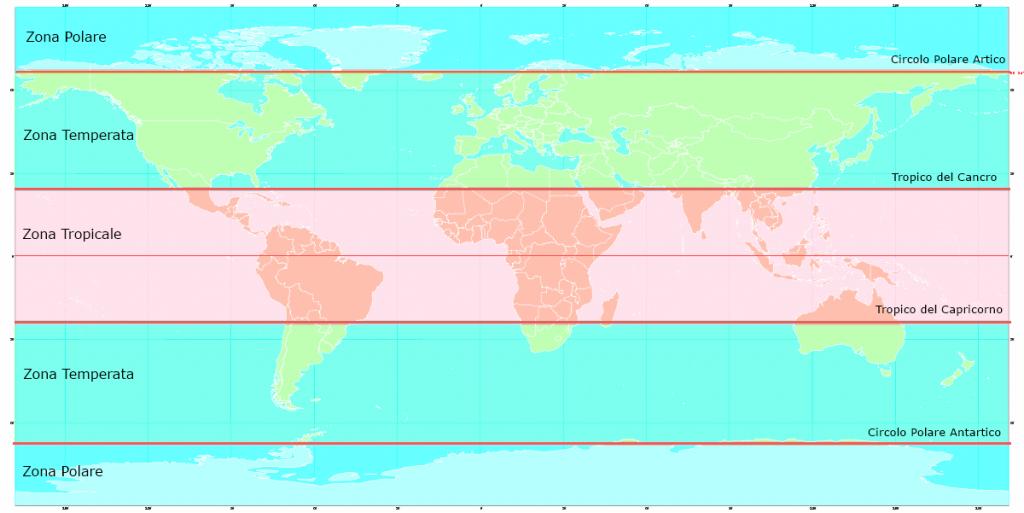 Gli uragani si formano nella fascia dei tropici.