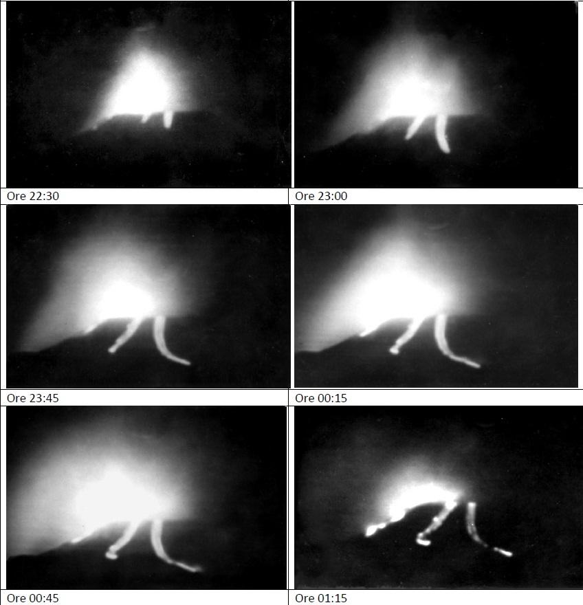 """Colate Laviche eruzione Etna del 1964 (pubblicate nel numero 88 della rivista dell'Associazione francese """"L.A.V.E. """")"""