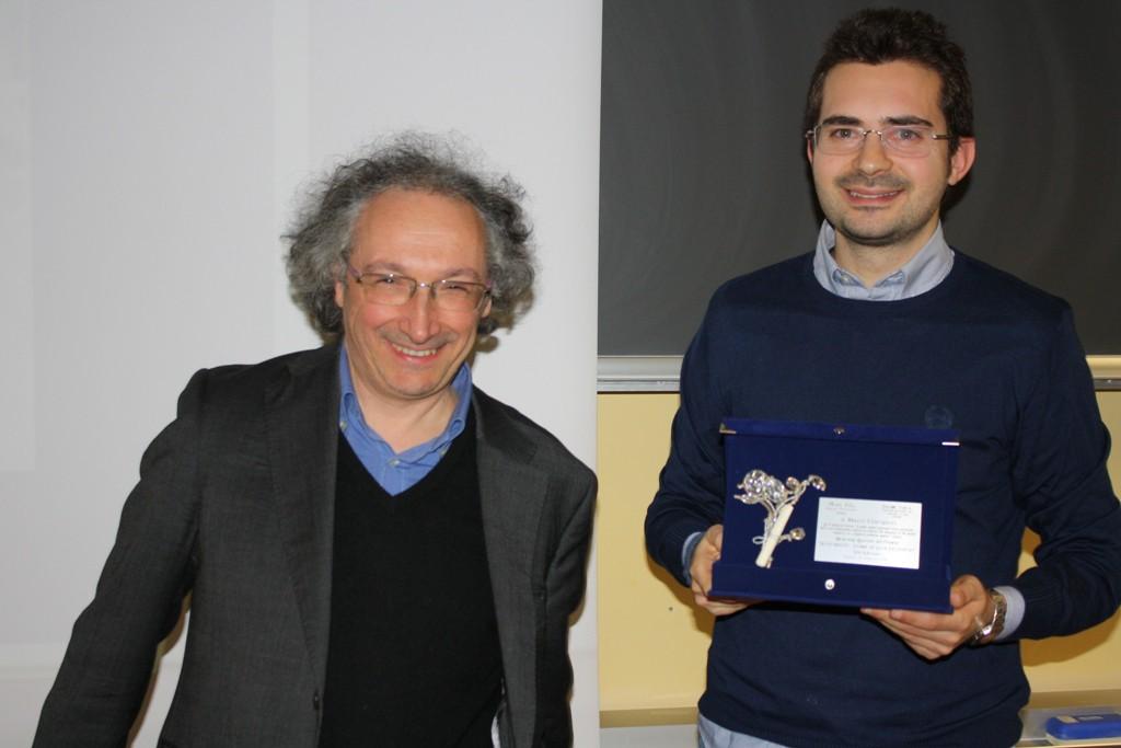 Il Prof. Zangheri con il geologo Giacopetti