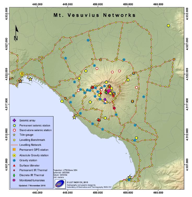 Rete Monitoraggio Vesuvio (fonte INGV)