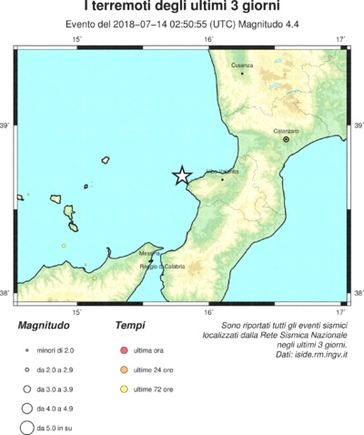 terremoto costa calabra epicentro dei terremoti